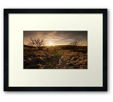 South Downs, Winter Sunset Framed Print