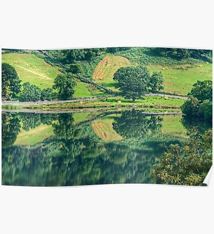 Reflections In Rydal Water Poster