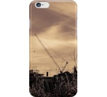 sepian crane iPhone Case/Skin