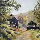 Lee Farm - Edale by Patricia Sabin