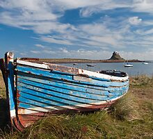 Boat on Holy Island Lindisfarne by Nick Jenkins