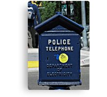 Police Telephone  Canvas Print