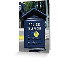 Police Telephone  Greeting Card