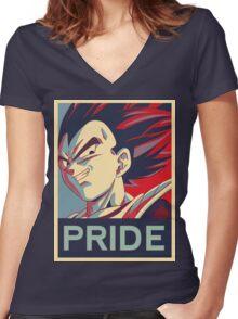 Vegeta - Pride Women's Fitted V-Neck T-Shirt