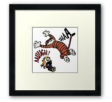 Calvin And Hobbes Fan Framed Print