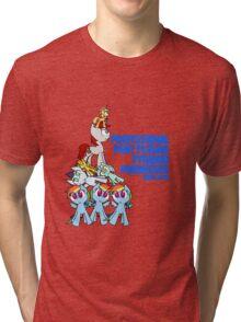 Professional Pony Plushie Pyramid Producer Tri-blend T-Shirt