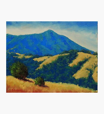 Tamalpais With Golden Hills Photographic Print