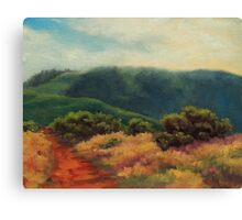 Fog Over Barnabe Mountain Canvas Print