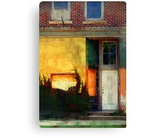 Sunlight Catching Yellow Wall Canvas Print