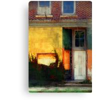 Sunlight Catching Yellow Wall Canvas Print