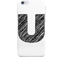 Sketchy Letter Series - Letter U iPhone Case/Skin