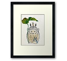 totoro and cie! Framed Print