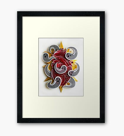"""Haunted Heart"" Framed Print"