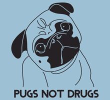 Pugs Not Drugs T-Shirt Kids Tee