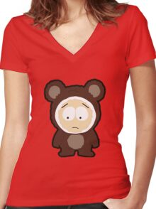 Bear Butters Women's Fitted V-Neck T-Shirt