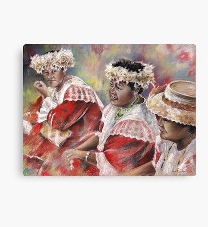 Three Mamas from Tahiti Canvas Print