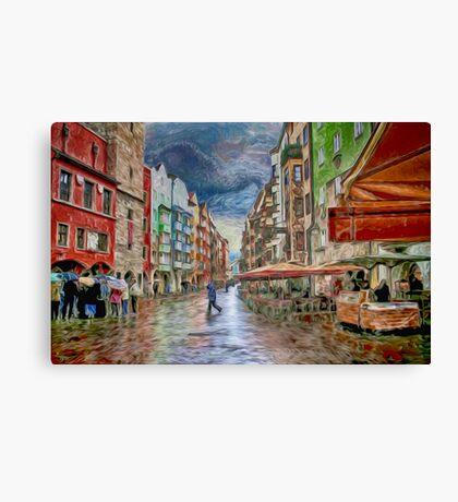 Innsbruck Street Scene Canvas Print