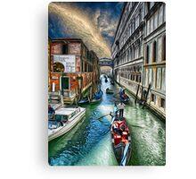 Venice Water Street Canvas Print