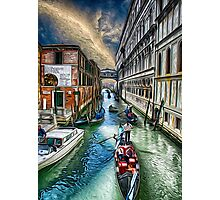 Venice Water Street Photographic Print