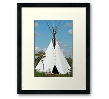 Teepee in the Prairies Framed Print