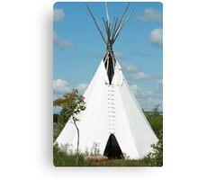 Teepee in the Prairies Canvas Print