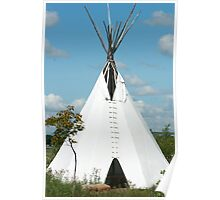 Teepee in the Prairies Poster