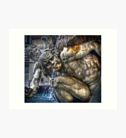 Dramatic Austrian Fountain Art Print