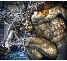 Dramatic Austrian Fountain Photographic Print