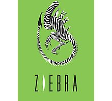 This is not ZEBRA. Giger Alien movie humour. Photographic Print