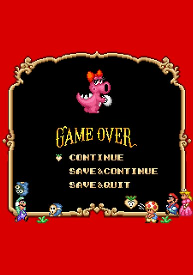 Game Over / Super Mario Bros. 2 by Studio Momo╰༼ ಠ益ಠ ༽