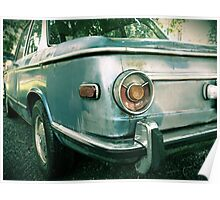 Vintage BMW Tail Light rustic car photography Poster