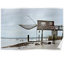 Carrelets in Port des Barques, Charente Maritime, France, atlantic coast Poster
