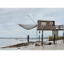Carrelets in Port des Barques, Charente Maritime, France, atlantic coast Photographic Print