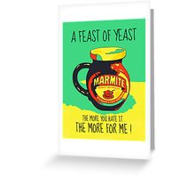 A FEAST OF YEAST Greeting Card