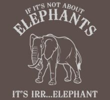 If it's not about elephants it is irrelephant by contoured