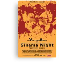 Sinema night Venture Bros Movie Canvas Print