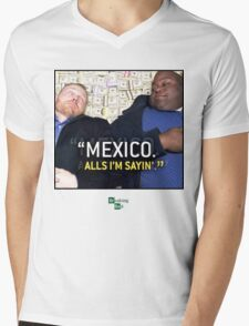 Mexico alls i'm sayn - Saul Guards Mens V-Neck T-Shirt