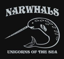 Narwhals. Unicorns of the Sea Baby Tee