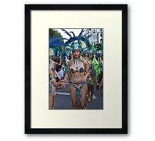 Notting Hill carnival in london Framed Print