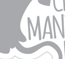 Crazy manta ray Lady Sticker