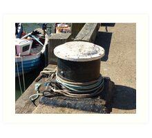 Boats and Bollards Art Print