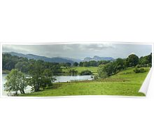 Loughrigg Tarn and Langdale Pikes Poster
