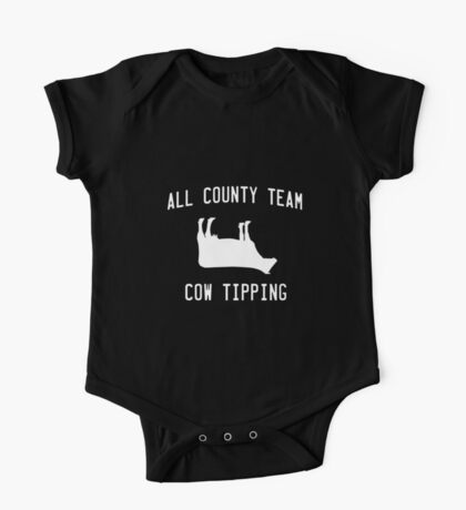 All County Cow Tipping One Piece - Short Sleeve