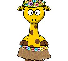 Hawaiian Giraffe Cartoon by kwg2200