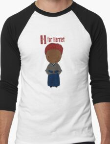 H is for Harriet Men's Baseball ¾ T-Shirt