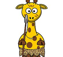 Native Giraffe Cartoon by kwg2200
