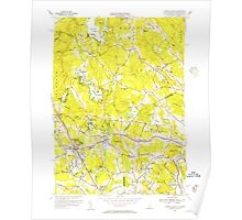 USGS TOPO Map New Hampshire NH Ayers Village 329925 1955 31680 Poster