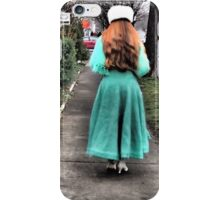 The Lady in Green iPhone Case/Skin