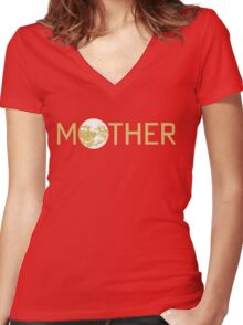 Mother Logo Women's Fitted V-Neck T-Shirt