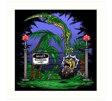 Jurassic Pounce! (Light Shirts) Art Print